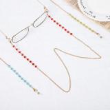 70CM Maskenkette, Brillenkette, Kristallglaskette, Maskenkette, Anti-Rutsch-Kette, Brillenband, Maskenseil