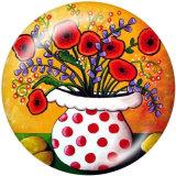 20MM Farbe Blumendruck Glas Druckknöpfe