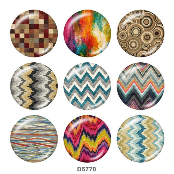 20-mm-Muster Drucktasten aus Glas