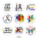 20MM   Ribbon   Print   glass  snaps buttons