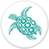 20 MM Meeresschildkröte Drucken Sie die Druckknöpfe aus Glas