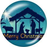 20MMクリスマスファミリープリントガラススナップボタン