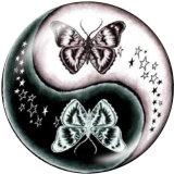 20MM Butterfly Horse Print Glasschnappknöpfe