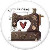 20MM Love toSewプリントガラススナップボタン
