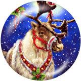 20MMクリスマスディアプリントガラススナップボタン