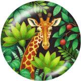 20MM Tiger Deer Print Glasschnappknöpfe