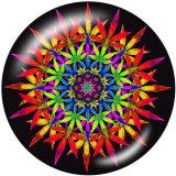 20 MM Musterfarbe Drucken Sie die Druckknöpfe des Druckglases
