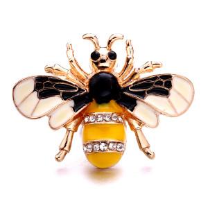 20 мм пчелиный металл, посеребренный со стразами, подвески, защелки, ювелирные изделия