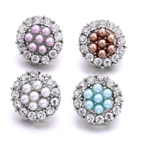 20 мм жемчужный металл посеребренные защелки на кнопках ювелирные изделия