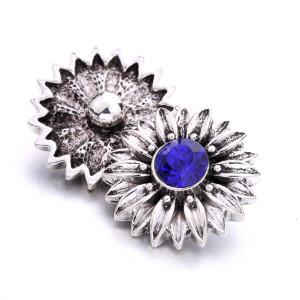 20 мм цветок металлический посеребренный со стразами шармы защелки ювелирные изделия