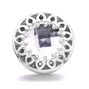 Металлический посеребренный дизайн 20 мм со стразами, подвески на защелках, ювелирные изделия