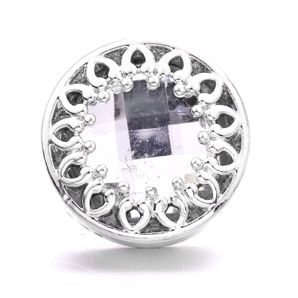 20MM design metal silver plated with Rhinestone snap charms snaps jewelry