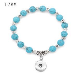 1 buttons With  snap Opal Elasticity  bracelet fit 12MM snaps jewelry