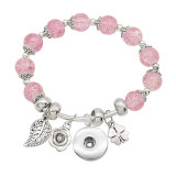 1 buttons With  snap Imitation crystal Small accessories Elasticity  bracelet fit18&20MM snaps jewelry