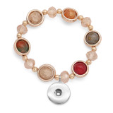 1 botones con broche de presión de cristal de imitación pulsera de elasticidad fit 18 y 20 mm broches de presión joyas