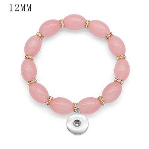 1 Knöpfe Mit Druckknopf Glasperlen Elastizität Armband passen 12MM Druckknöpfe Schmuck