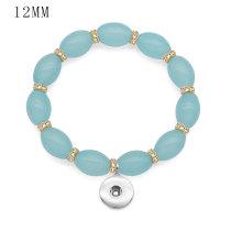 1 boutons avec bouton pression Perles de verre Bracelet d'élasticité fit 12 MM boutons-pression bijoux