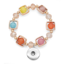 1 buttons With  snap Imitation crystal Elasticity  bracelet fit18&20MM snaps jewelry