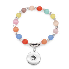 1 buttons With  snap Opal Elasticity  bracelet fit18&20MM snaps jewelry