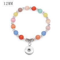 1 botones Con brazalete de elasticidad de ópalo a presión, apto para joyas de 12 mm