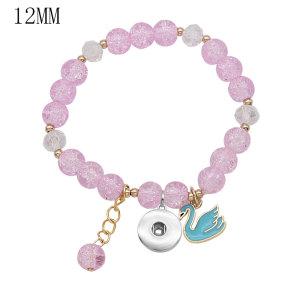 1 Knöpfe Mit Druckknopf Imitation Kristall Kleines Zubehör Elastizität Armband fit12MM Druckknöpfe Schmuck