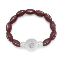 1 buttons Softball Football   snap button bracelet fit 18mm snap buttons