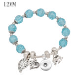 1 buttons With  snap Imitation crystal Small accessories Elasticity  bracelet fit12MM snaps jewelry