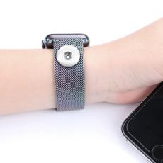 42 / 44MM Aplicable iwatch 123456 generación Apple correa de acero inoxidable reloj de manzana correa magnética apta para trozos de 18 mm
