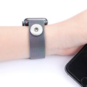 42/44 мм применимый iwatch 123456 поколение ремешок из нержавеющей стали Apple, магнитный ремешок для часов Apple Watch подходит для 18-миллиметровых кусков