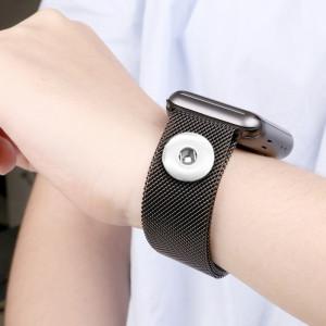 38/40 мм применимый iwatch 123456 поколение ремешок из нержавеющей стали Apple, магнитный ремешок для часов Apple Watch подходит для 18-миллиметровых кусков