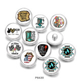 20MM  shoes  words  Print   glass  snaps buttons