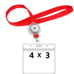 CDC Vaccination 4 x 3 Zoll wasserdichter Kartenhalter und 90 cm Lanyard passen auf 18 & 20 mm Brocken Schnappschmuck
