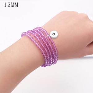 80CM 1 Knöpfe Mit Druckknopf Imitation Kristall Elastizität Armband fit12MM Druckknöpfe Schmuck