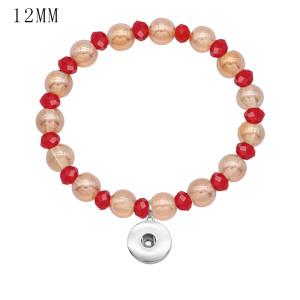 1 Knöpfe Mit Druckknopf Glasperlen Elastizität Armband fit12MM Druckknöpfe Schmuck