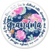 20MM   MOM  GIGI MAMA NANA     glass  snaps buttons