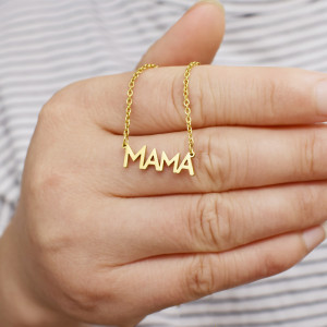 マママザーネックレス英語ワード母の日ステンレススチールネックレス40CM