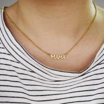 Mama Mutter Halskette Englisch Wort Muttertag Edelstahl Halskette 40CM