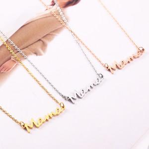 Ожерелье с буквами Mama из нержавеющей стали, подарок на День матери