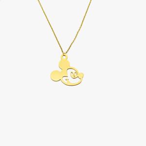 Ожерелье с Микки Маусом, цепочка для ключей из нержавеющей стали, 45 см