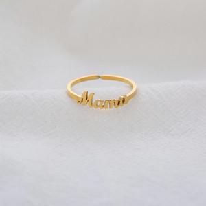 Мама кольцо из нержавеющей стали с буквами День матери Женский подарок Регулируемое отверстие