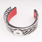 1 buttons Metal bracelet Leather Replaceable leather included fit18&20MM snaps jewelry