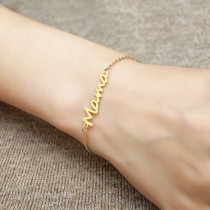 Mama Edelstahl Brief Armband Muttertag Damen Geschenk