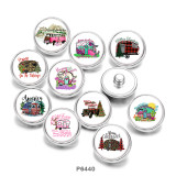 20MM   Car   Print   glass  snaps buttons