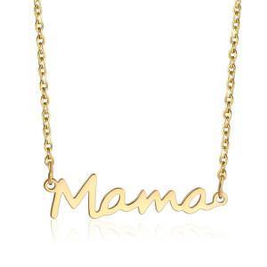 Collar con letras de acero inoxidable para mamá Regalo para mujer del día de la madre