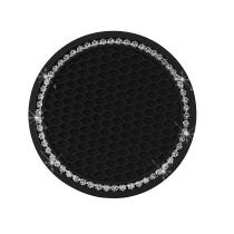 Diamantbesetzte Autountersetzer Silikonauto-Antirutschkissen Runde Wärmeisolierung Weichgummiauto Diamantbesetzte Wasserachterbahn