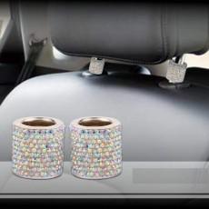 1 Uds.Aro de decoración de reposacabezas de coche tachonado de diamantes productos de decoración de asiento de coche