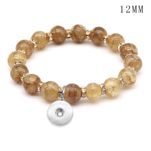 1 buttons With  snap crystal Elasticity  bracelet fit12MM  snaps jewelry