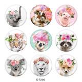 20MM éléphant Animal fleur art chat imprimé en verre boutons pression