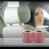 1PCSダイヤモンドをちりばめた車のヘッドレスト装飾リングカーシート装飾製品