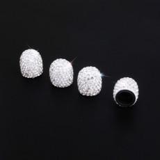 4 unids / lote tapa de válvula de diamante, tapa de neumático de coche modificada creativa, tapa de núcleo de válvula de diamante